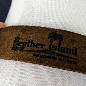 Leather Island Accessories - LEATHER ISLAND    Reggae Belt by Bill Lavin Sz 34